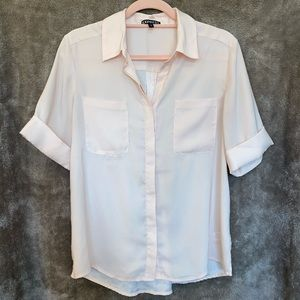 Express Button-Down Pale Pink Blouse